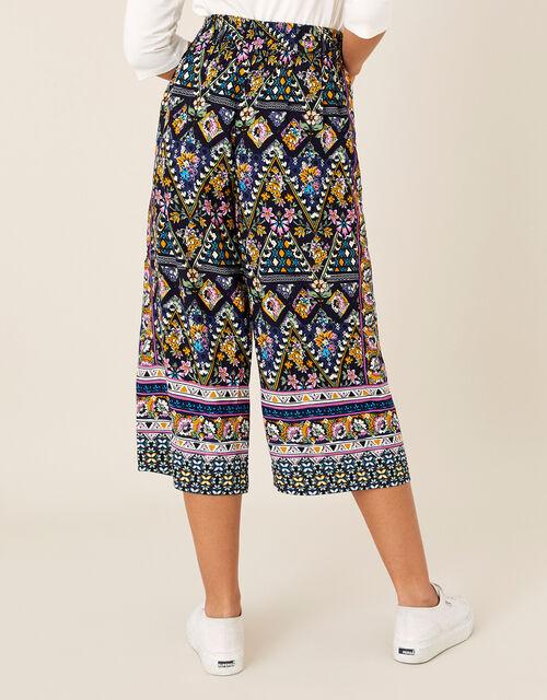 Contrast Print Culottes in LENZING™ ECOVERO™, Multi (MULTI), large