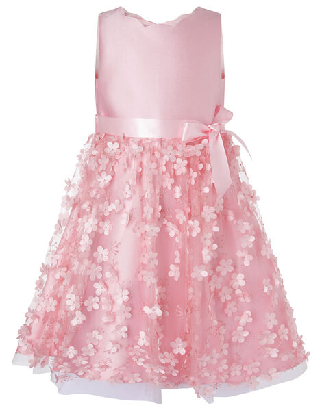 3D Flower Dress Pink, Pink (DUSKY PINK), large