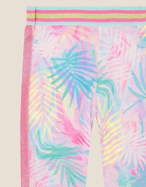 Active Palm Print Leggings , Pink (PINK), large