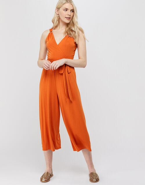 Cooper Jersey Cupro Jumpsuit, Orange, large