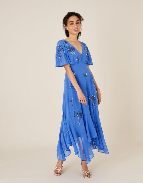 ARTISAN Amira Embellished Dress, Blue (BLUE), large