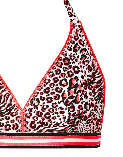 Animal Print Bikini Set, Orange (CORAL), large