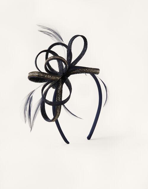 Embellished Loops Fascinator Headband, Blue (NAVY), large