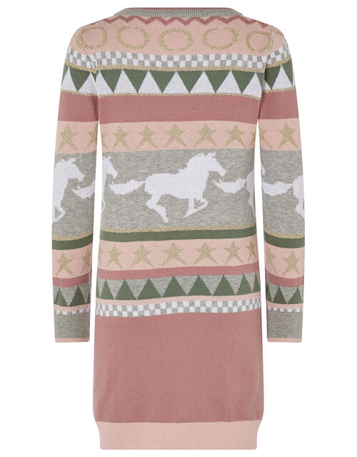 Horse and Star Knit Dress, Pink (PALE PINK), large