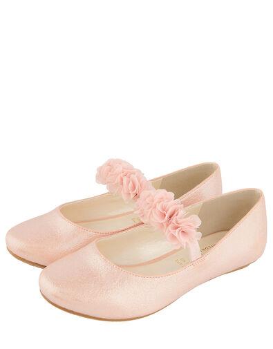 Cynthia Corsage Shimmer Flat Shoes Pink, Pink (PINK), large