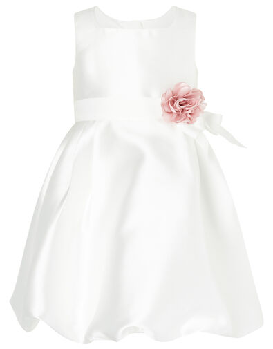 Baby Pearl Puffball Dress Ivory, Ivory (IVORY), large