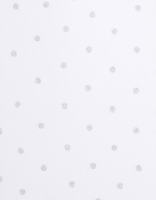 Baby Glitter Spot Tights, White (WHITE), large