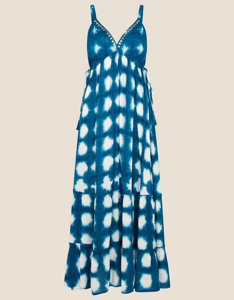 Tie-Dye Maxi Dress in LENZING™ ECOVERO™ Blue, Blue (BLUE), large