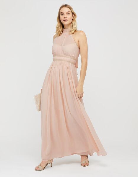 Marion Halter Embellished Maxi Dress Nude, Nude (NUDE), large