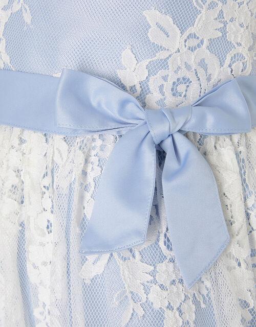 Lace High-Low Dress, Blue (BLUE), large