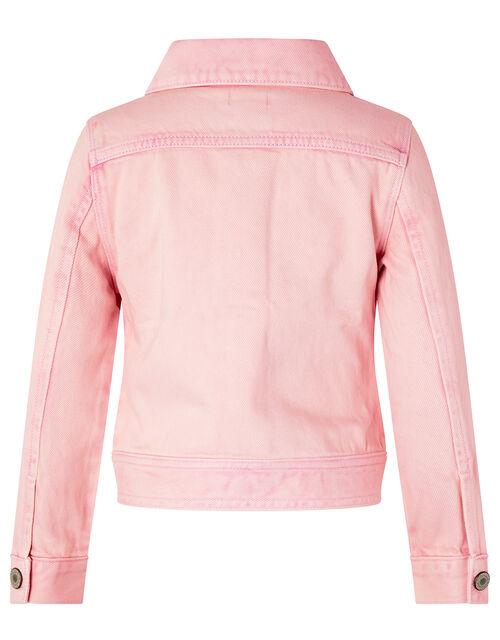 Primrose Tie-Dye Denim Jacket, Pink (PINK), large