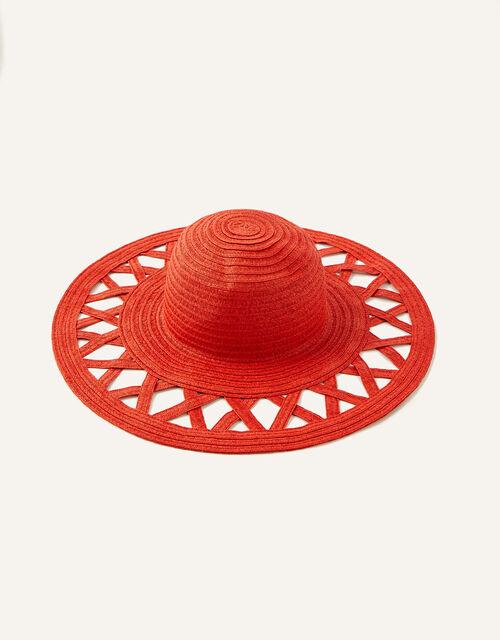 Charli Colour-Pop Straw Floppy Hat , , large