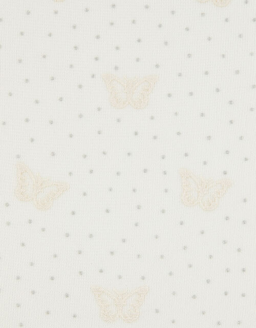 Girl Butterfly Spot Tights, Ivory (IVORY), large