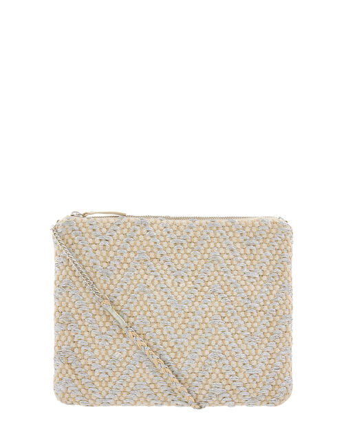 Charley Chevron Weave Cross-Body Bag, , large