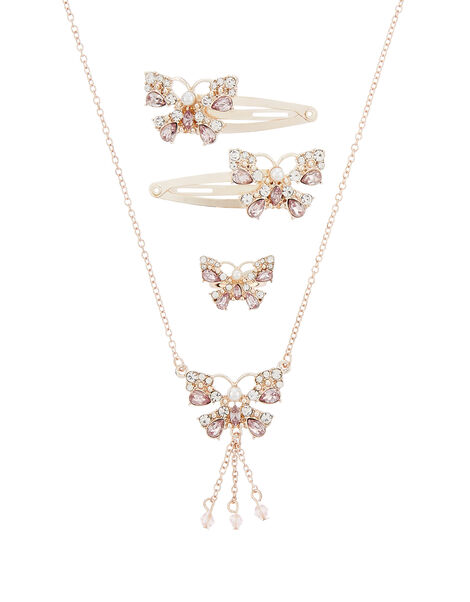 Julia Sparkle Butterfly Accessory Set, , large