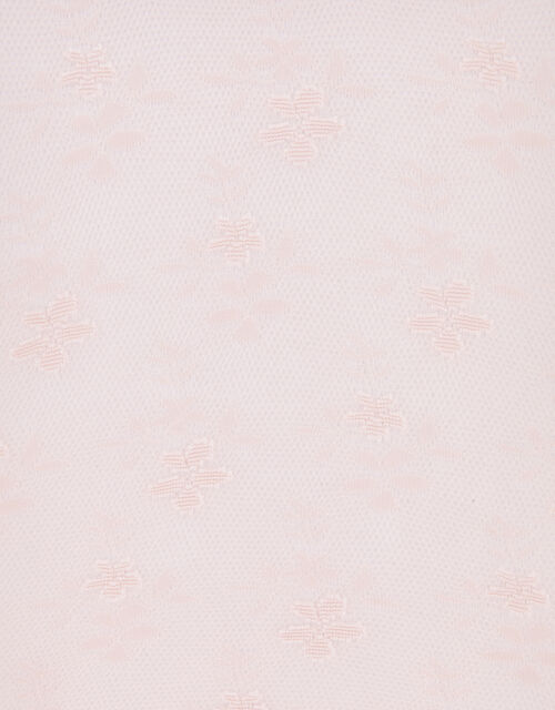 Lacey Flower Baroque Tights, Pink (PINK), large