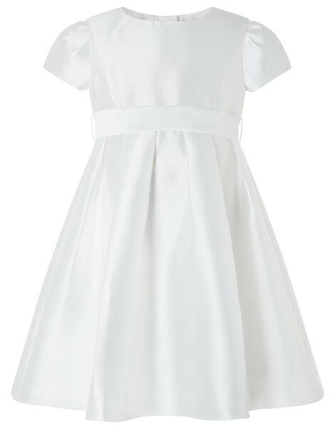 Henrietta Duchess Twill Occasion Dress Ivory, Ivory (IVORY), large