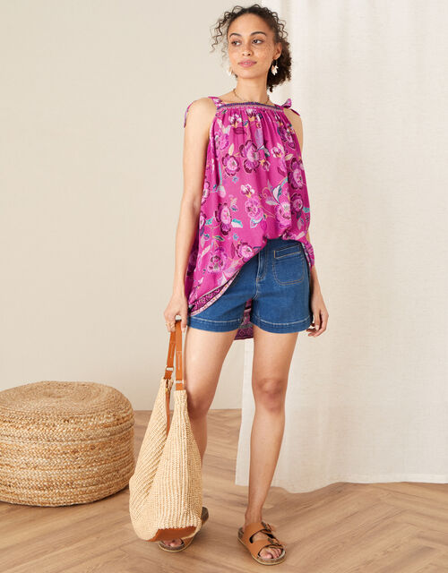 Kitty Floral Cami in LENZING™ ECOVERO™, Pink (PINK), large