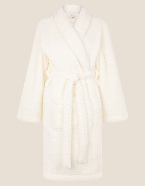 LOUNGE Fluffy Dressing Gown, Ivory (IVORY), large