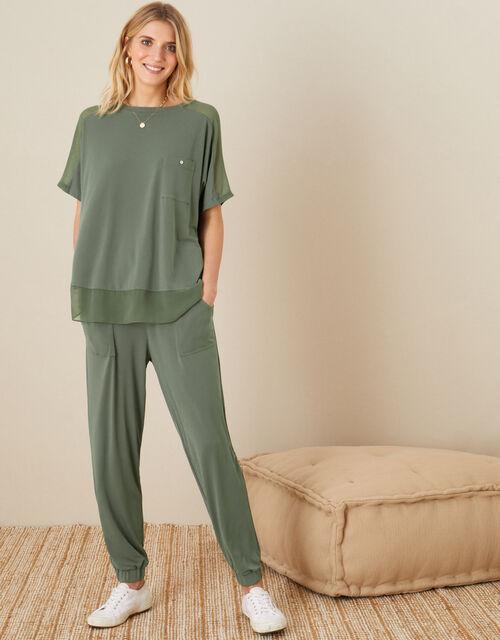 LOUNGE Kimberley T-Shirt, Green (KHAKI), large