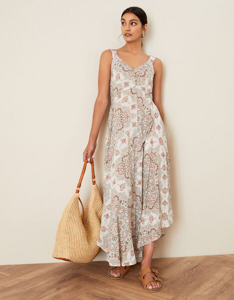 Miriam Print Dress in LENZING™ ECOVERO™ Natural, Natural (NATURAL), large