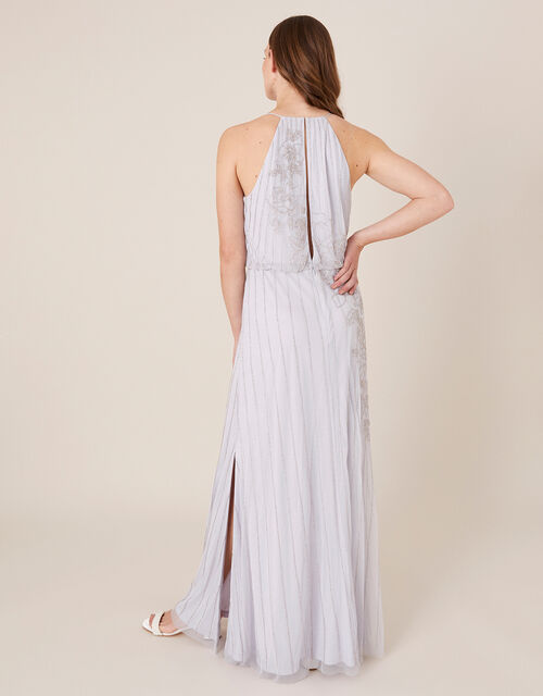 Summer Beaded Floral Maxi Dress, Purple (LILAC), large