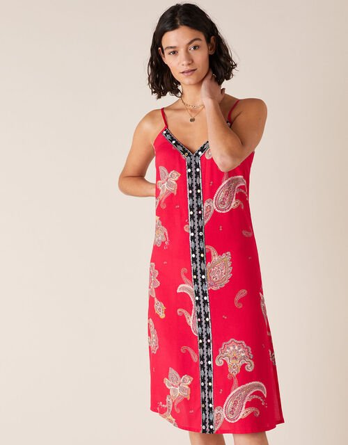 Heritage Print Dress in LENZING™ ECOVERO™, Red (RED), large