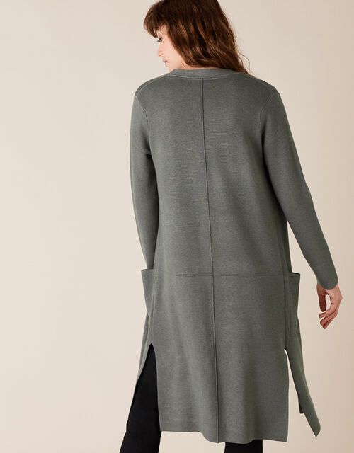 Longline Knit Coatigan with LENZING™ ECOVERO™,, Grey (CHARCOAL), large