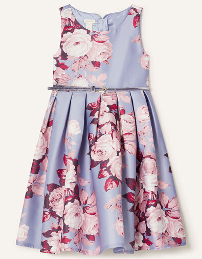 Alana Rose Print Dress Blue, Blue (BLUE), large