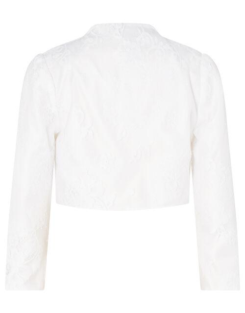 Lace Dress and Cover-Up Bridal Set, Ivory (IVORY), large