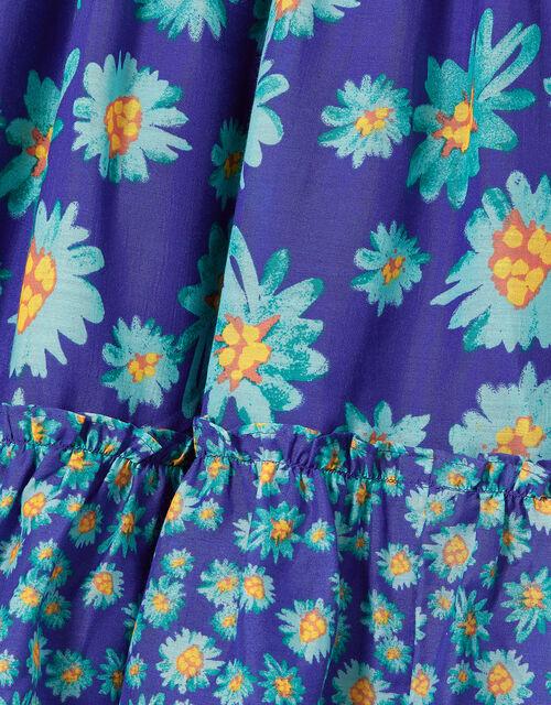 Daisy Print Midi Dress, Blue (BLUE), large