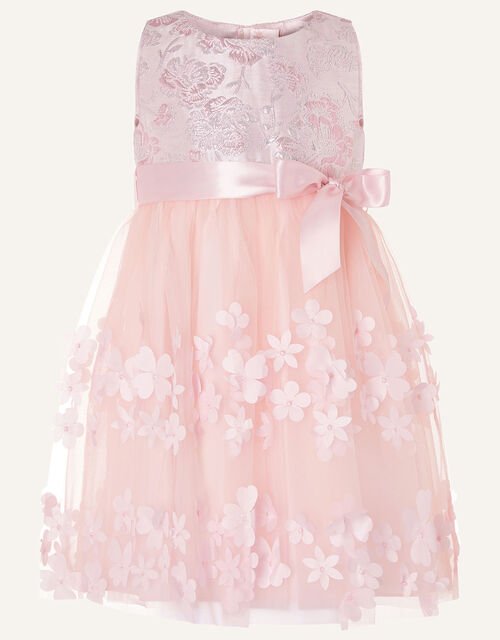 Baby Ivy Jacquard Petal Dress , Pink (PINK), large