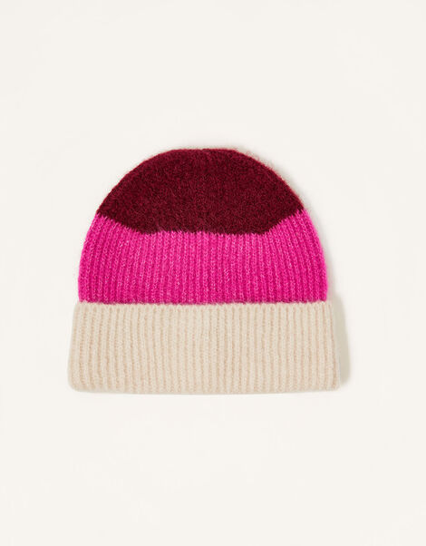 Stripe Knit Beanie, , large