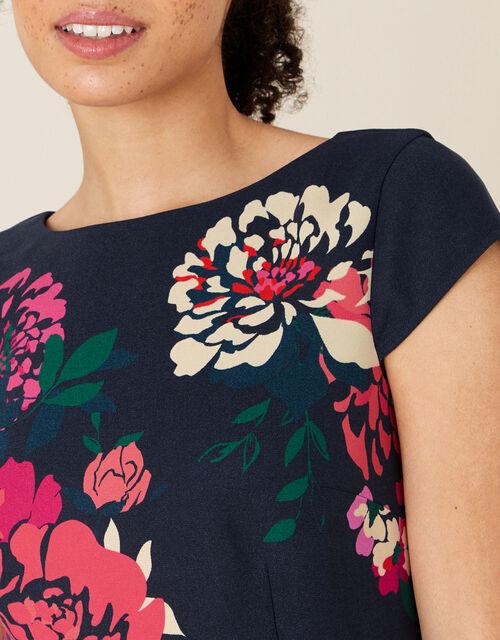 Pippa Floral Shift Dress, Blue (NAVY), large