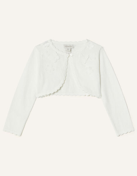 Baby 3D Butterfly Cardigan Ivory, Ivory (IVORY), large