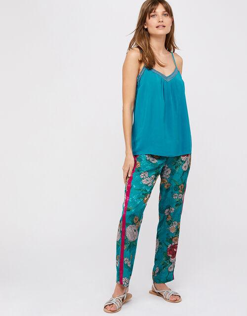 Brooke Embellished Cami Top, Teal, large