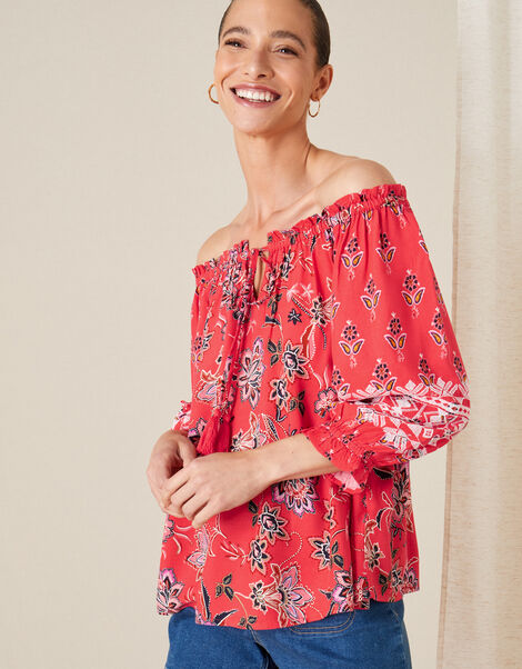 Anissia Off-Shoulder Top Red, Red (RED), large