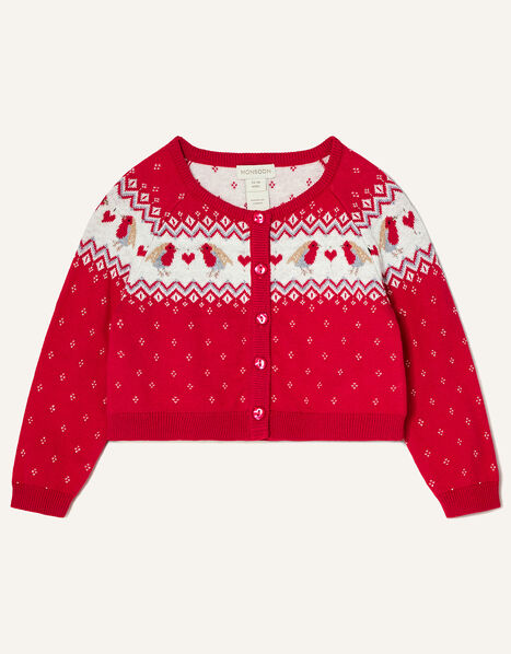 Baby Robin Cardigan  Red, Red (RED), large