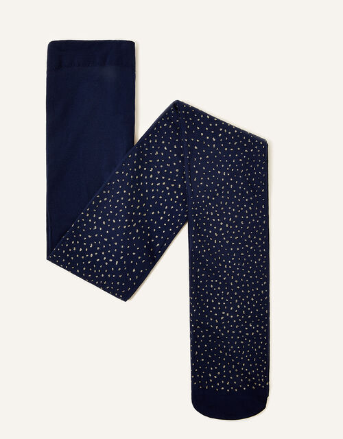 Fleck Tights, Blue (NAVY), large