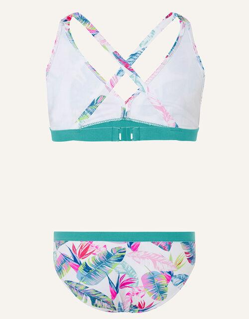 Palm Print Bikini Set, Ivory (IVORY), large