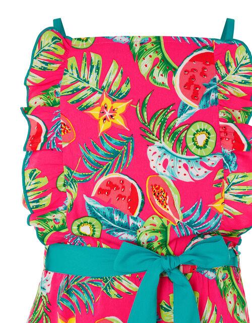 Inna Fruit Print Playsuit, Pink (PINK), large