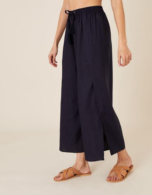 Split Leg Culottes in LENZING™ ECOVERO™, Blue (NAVY), large