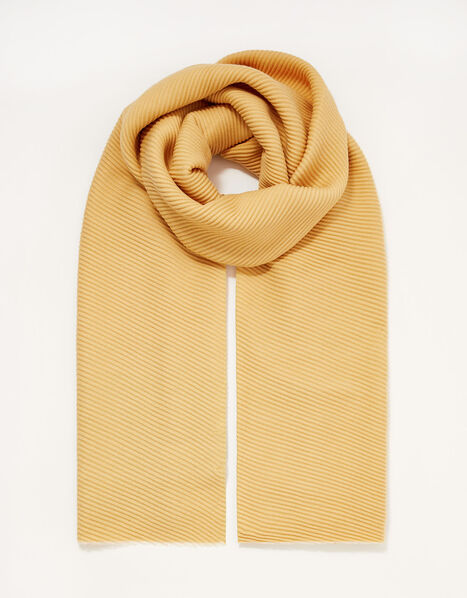 Pleated Midweight Scarf, , large