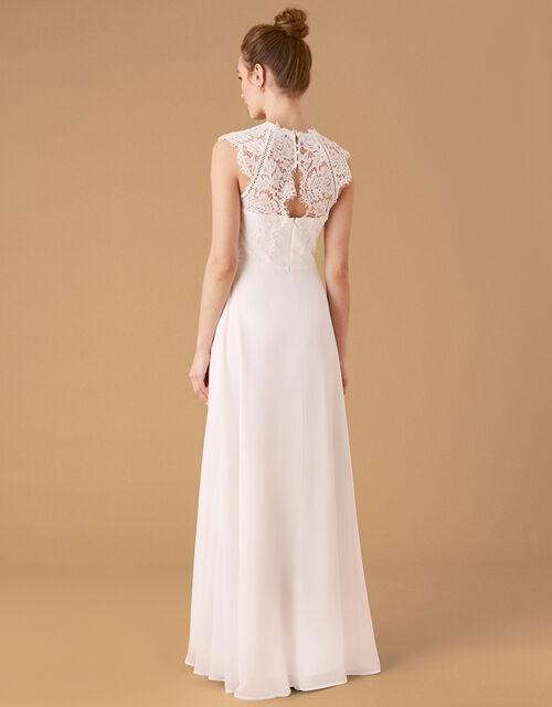 Lilian Lace Bodice Bridal Dress, Ivory (IVORY), large