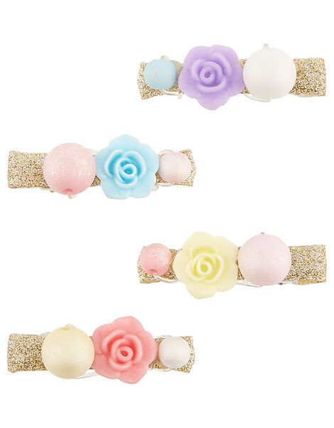 Candy Frost Flower Hair Clip Set, , large