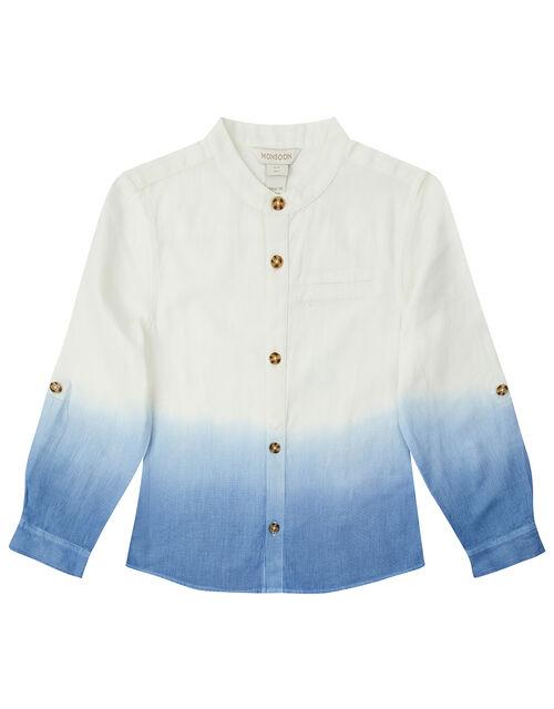 Ovie Ombre Shirt, Blue (BLUE), large