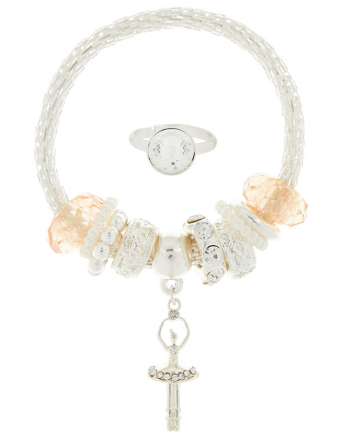 Sparkle Ballerina Bracelet and Ring Set, , large