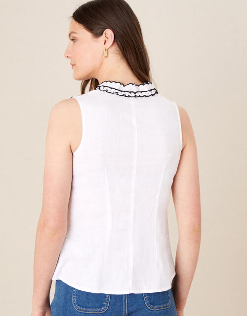 Embroidered Tank Top, Ivory (IVORY), large