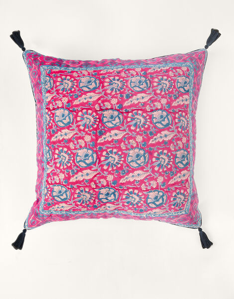ARTISAN STUDIO Woodblock Print Cushion, , large