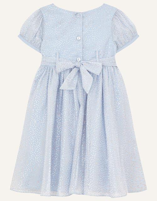 Baby Foil Print Dress, Blue (BLUE), large